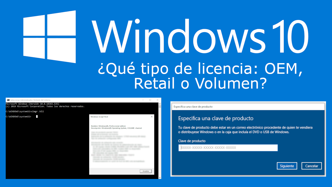 How to know the license type of Windows 10   Activation key