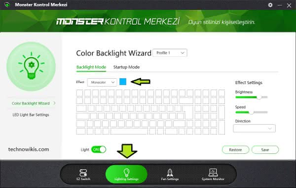 How to Change the Keyboard Light on Monster Abra - TechnoWikis com