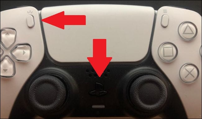 pairing mode activated with the create and playstation buttons on the dualsense controller